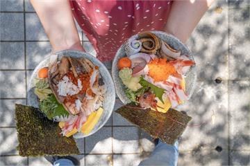 台北小巨蛋站-又一村刺身握壽司丼飯 龍城市場大唾海鮮 大推銅板價螃蟹味增湯