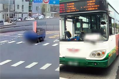 快新聞/小貨車會車「塑膠管插進公車擋風玻璃」 客運司機送醫治療
