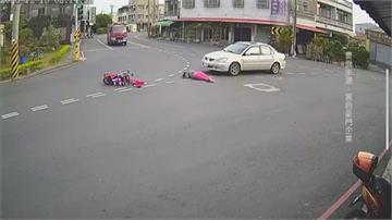 闖紅燈?阿嬤帶7月大孫女過馬路嬰兒車遭撞飛5米遠 僅皮肉傷