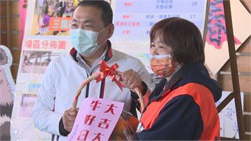 新北春節垃圾量暴增8成 侯友宜送橘子慰勞清潔隊員