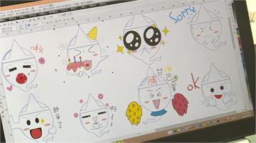 腦癌女學生不向命運低頭 創作可愛Line貼圖「古斯特」