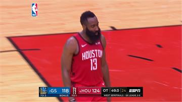 NBA/哈登狂轟41分 助火箭延長賽險勝勇士