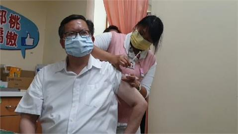 快新聞/AZ疫苗擴大施打!全台地方首長「第一針」 鄭文燦:打的時候沒感覺