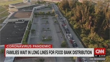 飢餓美國! 2600萬人失業 食物銀行湧車潮