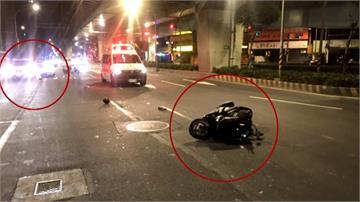 擦撞休旅車再被追撞 騎士當場無呼吸心跳