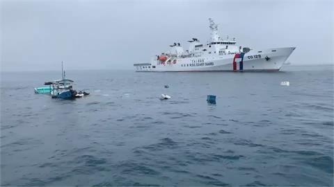 漁船遭貨輪擦撞沈船! 高雄艦七分鐘驚險救人