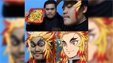 泰國網紅神還原炭治郎、炎柱 鬼滅cosplay造型超神