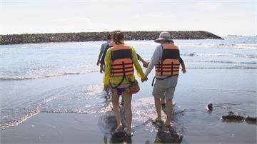 旗津「摩西分海」奇景 竟是養灘意外收穫