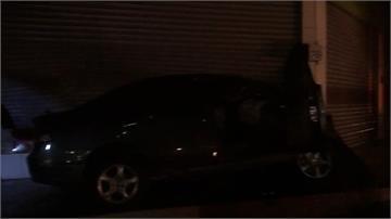 轎車失控撞超市 一家四口一死三傷