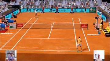 網球/「紅土之王」虛擬賽一樣強!納達爾晉級振臂歡呼