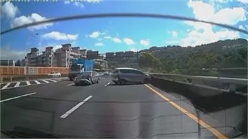 旋轉陀螺?追撞前車釀打滑 國三中和段3車連環撞3人傷