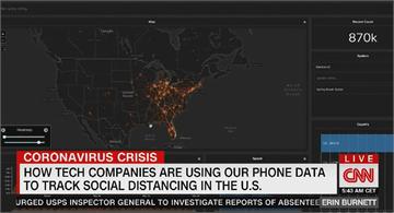 美蒐集手機定位數據 監控民眾禁足令配合度