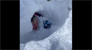 錄下雪崩瞬間!美國猶他州雪崩4人遭埋亡