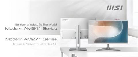 3C/這個漂亮耶!MSI 微星 Modern 系列 24/27 吋 AIO 商用文書整合電腦