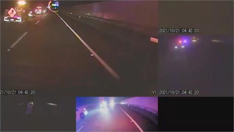 國道3號2小貨車追撞7人受傷 其中1車竟載13人