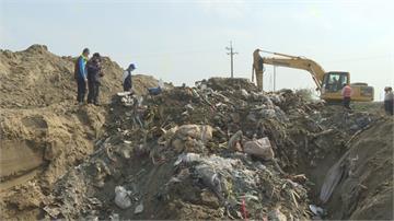 蓄洪池變掩埋場! 挖出至少深4米半廢棄物