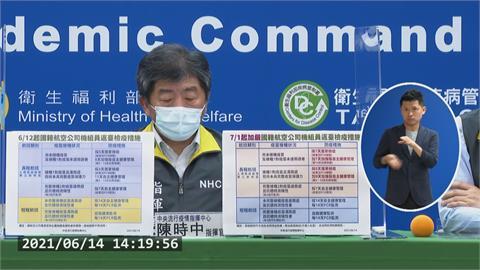 居檢升級!沒打疫苗機組員7+7天 打1劑5+9天