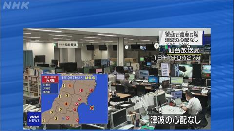 快新聞/日本宮城外海規模6.6強震 老人之家電梯緊急停止