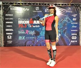 段慧琳挑戰226 km超鐵摔車  靠鐵人意志苦撐16小時完賽