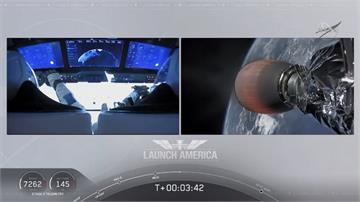 SpaceX順利載2人上太空!將測試太空船設備、飛行程序