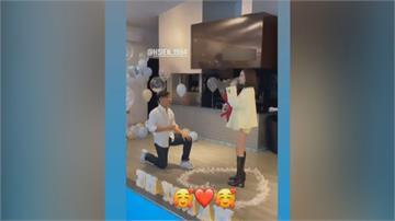 中職/統一獅球星陳傑憲  求婚啦啦隊女友成功