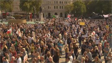 單日新高憂第二波 英國恐封城民抗議