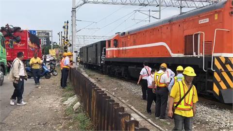調車擠壞轉撤器 台鐵貨物列車 車頭「卡卡」