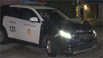 警執行路檢勤務 貨車衝撞路檢點逃逸