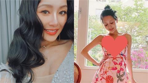 王思佳懷孕7月秀美腿 「呼之欲出」撐爆洋裝的竟不是孕肚!