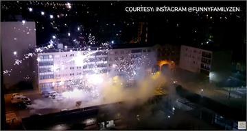 疑摩托車事故生怨 巴黎近郊警局遭煙火攻擊