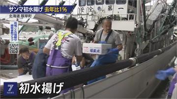 秋刀魚被吃光光?日本首批卸貨量僅去年1%