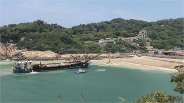 中國採砂船大舉越線到馬祖採砂 引外媒關注