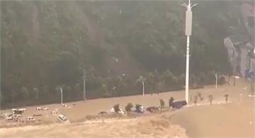 長江第三號洪峰淹沒千年古鎮磁器口 即將進入三峽大壩