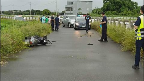 台南防汛道路車禍 2外籍生雙載自撞1死1傷