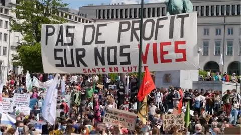 反疫苗.反口罩.反封鎖!英國.比利時民眾示威