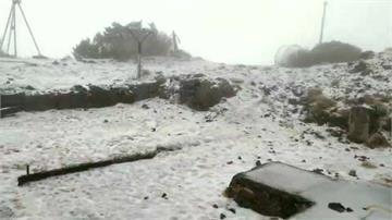 玉山積雪達3公分!  週六鋒面抵達降雪機會增