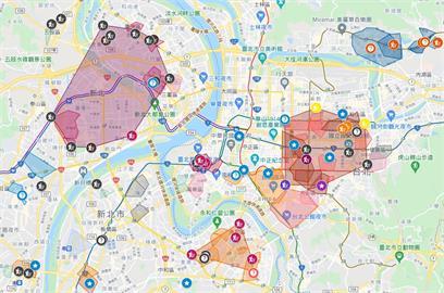 沒事別去雙北這3區!單日暴增180例 神人自製「確診者足跡地圖」超好用