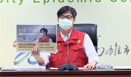 快新聞/疫苗登記到今天17時!陳其邁:有疫苗就打 台灣醫護都打AZ