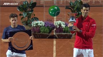 網球/喬帥揮別失格陰霾!羅馬公開賽奪冠「36座大師賽金盃」史上第一