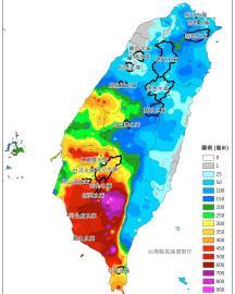 全台連日降雨「這地方」破1千毫米!1張圖看各地水庫近5日累積雨量