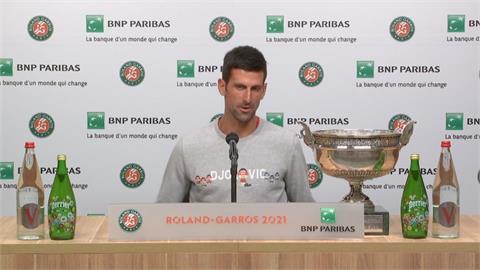 喬科維奇再摘法網冠軍 奪下生涯第19座大賽金盃