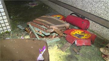 五股「豬八戒」怪客夜闖社區 朝住戶陽台扔鞭炮丟了就跑
