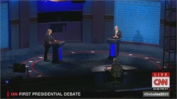 川普vs.拜登 辯論口水戰大亂鬥CNN主播:最糟糕的辯論