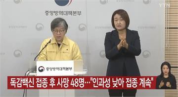 南韓接種流感疫苗後死亡增至48人 疾管廳繼續推進