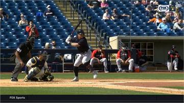 MLB/張育成單場雙響砲 林子偉敲二壘安打