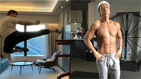 不愧是葉問!甄子丹隔離照樣練武 飛踢騰空「1.6m」網讚:看不出57歲
