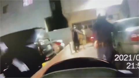 男車手遇上女員警 狂奔兩百米還是落網