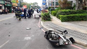 快新聞/新北新莊休旅車追撞3機車、1單車 「5傷1命危」急送醫