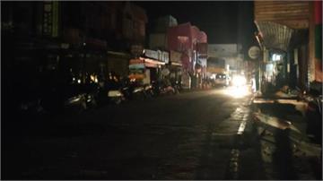 綠島南寮大街一片漆黑 200戶停電超過10小時!