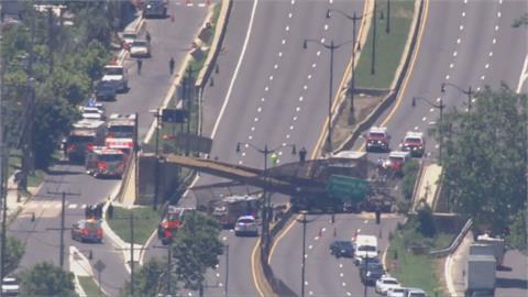 華府天橋坍塌釀5傷 公路交通中斷當地24日疏通